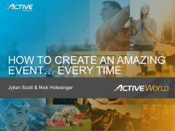 HOW TO CREATE AN AMAZING EVENT… EVERY TIME
