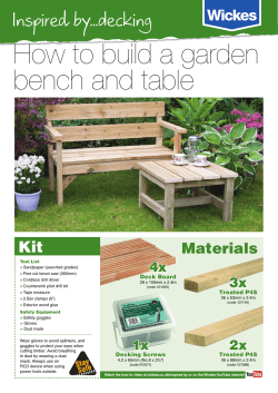 How to build a garden bench and table Inspired by...decking Kit
