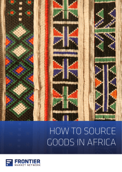 HOW TO SOURCE GOODS IN AFRICA