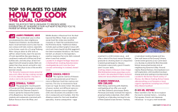 HOW TO COOK TOP 10 PLACES TO LEARN THE LOCAL CUISINE
