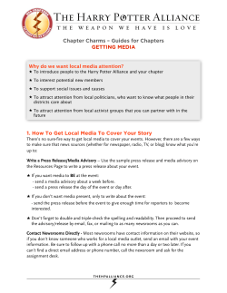 Chapter Charms – Guides for Chapters GETTING MEDIA WAND