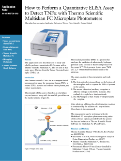 How to Perform a Quantitative ELISA Assay Multiskan FC Microplate Photometers