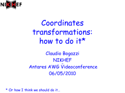 Coordinates transformations: how to do it* Claudio Bogazzi