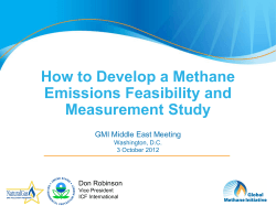 How to Develop a Methane Emissions Feasibility and Measurement Study