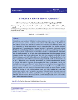 Flatfoot in Children: How to Approach ? Review Article