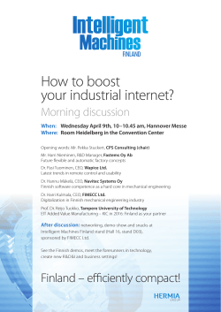 How to boost your industrial internet? Morning discussion When: