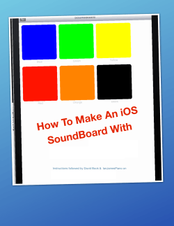 How To Make An iOS d With SoundBoar Buzztouch.com
