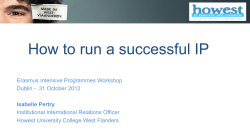 How to run a successful IP