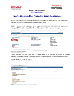 How To License A New Product in Oracle Applications