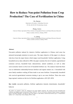 How to Reduce Non-point Pollution from Crop He, Haoran Zhang, Linxiu