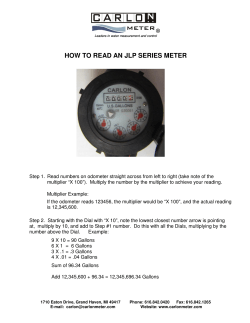 HOW TO READ AN JLP SERIES METER ®