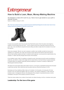 How to Build a Lean, Mean, Money-Making Machine ultimate success.