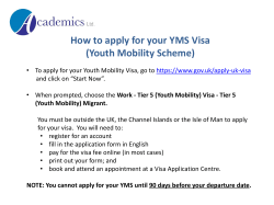How to apply for your YMS Visa (Youth Mobility Scheme)