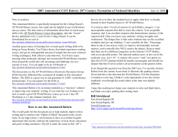 2007 Annotated CCOT Rubric: 20  Century Formation of National... July 19, 2008