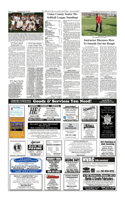 Union County Senior 50+ Softball League Standings The Westfield Leader Page 16