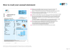 How to read your annual statement