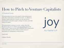 How to Pitch to Venture Capitalists A Practical Guide