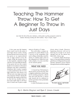 Teaching The Hammer Throw: How To Get A Beginner To Throw In