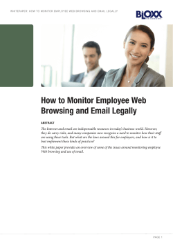 How to Monitor Employee Web Browsing and Email Legally