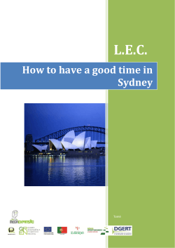 L.E.C. How to have a good time in Sydney