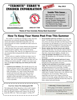 How To Keep Your Home Pest Free This Summer