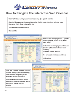 How To Navigate The Interacti ve Web Calendar