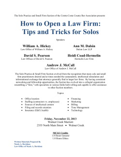 How to Open a Law Firm: Tips and Tricks for Solos