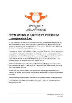 How to schedule an Appointment and Sign your Loan Agreement Form