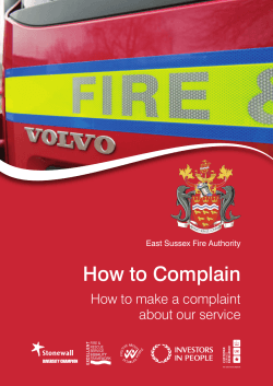 How to Complain How to make a complaint about our service