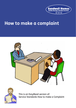 How to make a complaint This is an EasyRead version of: