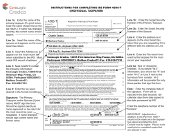 4506-T INSTRUCTIONS FOR COMPLETING IRS FORM 4506-T (INDIVIDUAL TAXPAYER)