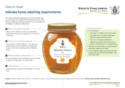 How to meet mānuka honey labelling requirements