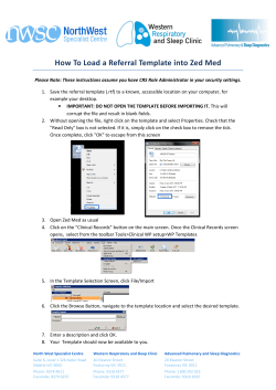 How To Load a Referral Template into Zed Med