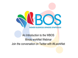 An Introduction to the WBOS Illinois workNet Webinar