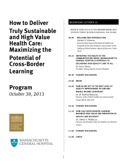 how to deliver truly sustainable and high value health care: