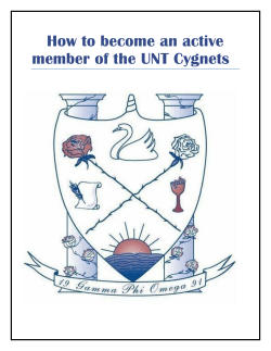 How to become an active member of the UNT Cygnets