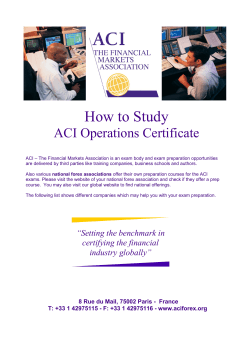 How to Study ACI Operations Certificate