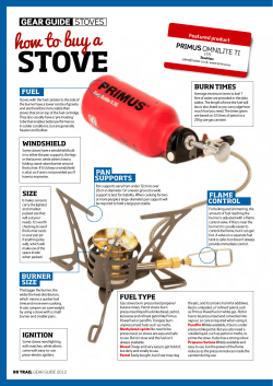 Gear Guide stoves