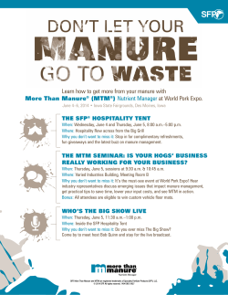 Learn how to get more from your manure with (MTM