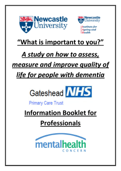 """What is important to you?"" A study on how to assess,"