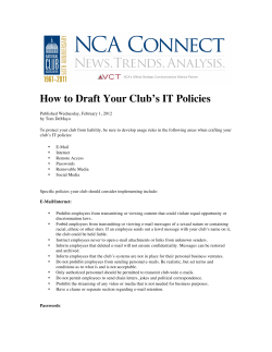 How to Draft Your Club's IT Policies