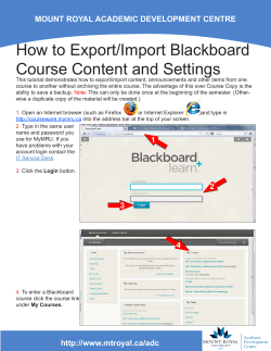 How to Export/Import Blackboard Course Content and Settings