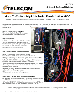 How To Switch HipLink Serial Feeds in the NOC 4-17-13