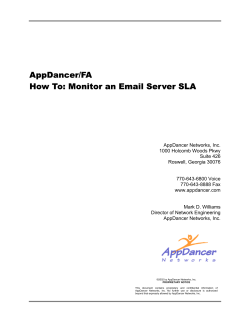 AppDancer/FA How To: Monitor an Email Server SLA