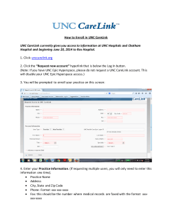 How to Enroll in UNC CareLink
