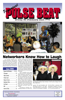 PULSE BEAT Networkers Know How to Laugh Serving the Community Since 1990
