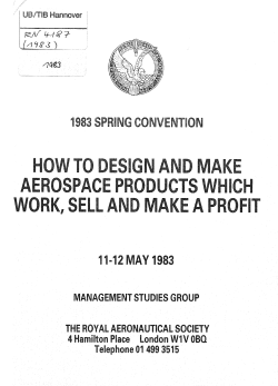WORK, DESIGN AEROSPACE PRODUCTS SELL