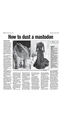 How to dust a mastodon
