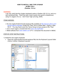 HOW TO INSTALL AND TYPE UYGHUR IN MAC OS X (Panther, 10.3.x) WARNING!