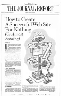 How to Create A Successful Web Site ForNothing (Or Almost
